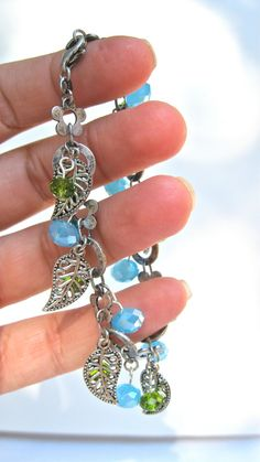 Nature Inspired Bracelet Charm Style Boho by MonasCreationsFL, $15.00