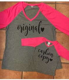 Mother and daughter Carbon Copy, Baseball, Tees, Sweaters, Sports, Fashion, Brain, Cricut, Hs Sports