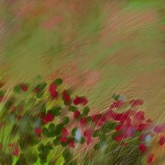 Dessin peinture paysage impressionniste champ fleurs vert Art Floral, Painting, Etsy, Impressionism, Abstract Drawings, Green Flowers, Field Of Flowers, Trends, Flower Art