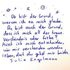 """Julia Engelmann on Instagram: """"(Das erste Wort in der letzten Zeile heißt """"lieber""""🤓🙄) .... Aus meinem neuen Buch und Hörbuch """"Keine Ahnung, ob das richtig ist""""💖 21.10.,…"""""""