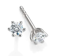 Traumhafte Ohrstecker Bridal 6 Krappen Diamant by Verlobungsring.de #wedding #earrings #diamond