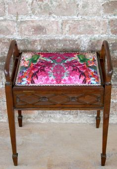 Edwardian (1901-1910) Bright Antique Edwardian Piano Stool Refreshment Benches/stools