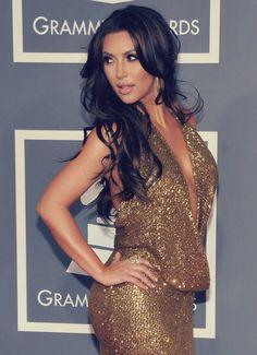 Bling Things...Gold Bling Dress. Kim Kardashian