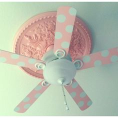 DIY Ceiling Fan Blades & Medallion