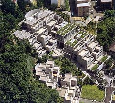 Rokko Complex  Japan - The Rokko complex is a number of apartment buildings constructed over 3 decades which highlights Ando's propensity to integrate nature into his designs.