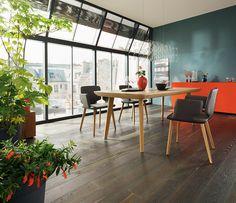 Ultra High End Luxury Solid Hardwood And Leather Dining Table Ausziehbarer Esstisch Team 7