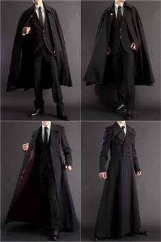 Long coat + formal robe for all your suiting and wizarding needs. Long coat + formal robe for all your suiting and wizarding needs.,Clothes reference Long coat + formal robe for all your suiting. Gothic Fashion, Mens Fashion, Fashion Outfits, Fashion Trends, Fashion Clothes, Fashion Vintage, Fashion Pants, Trendy Fashion, Style Fashion