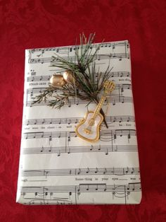 Use Sheet Music to wrap a gift for a music lover.