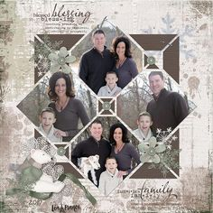 Country Patches 1 Digital Scrapbook Template Can't pick just one family portrait for your scrapbook? Layout a bunch like on this page created using the Lea France Digital Country Patches 1 Template Wedding Scrapbook Pages, Scrapbook Titles, Scrapbook Templates, Scrapbook Designs, Baby Scrapbook, Scrapbook Stickers, Scrapbook Journal, Travel Scrapbook, Scrapbook Layout Sketches