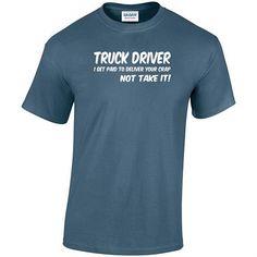 Trucker T-Shirt HGV T-Shirt Lorry Driver T-Shirt Funny T-Shirt