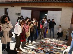 The medieval town of Ureña in Spain has just over 200 citizens, and has revitalized many of its old buildings through the book trade. One of the about a dozen shops is in a wine cellar (and specializes in wine-focused literature, naturally), while another concentrates on bull fighting