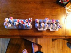 Egg carton cake-pop holder