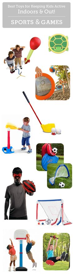Top sports and game toys to keep kids active indoors and out - one of 10 awesome gift guides for kids!