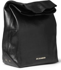 Jil Sander Leather Lunch Bag I would carry my lunch more often in a bag like this!