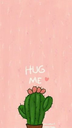 phone wallpaper cactus Von m - phonewallpaper Cute Wallpaper For Phone, Pink Wallpaper Iphone, Iphone Background Wallpaper, Pink Iphone, Tumblr Wallpaper, Wallpaper Quotes, Wallpaper Art, Trendy Wallpaper, Kawaii Wallpaper