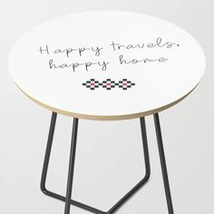 Happy travels, happy home III Side Table by chiqueromania Graphic Patterns, Minimalist, Happy, Table, Furniture, Design, Home Decor, Decoration Home, Room Decor