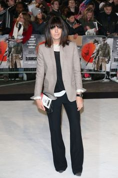 Claudia Winkleman Casual Work Outfits, Work Casual, Claudia Winkleman Hair, Work Fashion, Star Fashion, Bob Fringe, Rose Byrne, Gamine Style, Tv Presenters