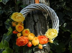 Wreath Spring  Easter gift Mother's Day made in by Ghirlandiamo, €35.00