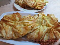 Middle Eastern Dishes, Middle Eastern Recipes, Gyro Pita, Greek Pastries, Greek Cooking, Snack Recipes, Snacks, Greek Recipes, Food Processor Recipes