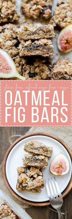 These Oatmeal Fig Bars are an incredible way to use your fresh figs! These gluten-free + vegan bars taste like Fig Neutons, but without the guilt or refined sugars. Enjoy them for breakfast or as a sn