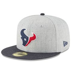 Men s Houston Texans New Era Heathered Gray Crisp 2 59FIFTY Fitted Hat 154e66d48