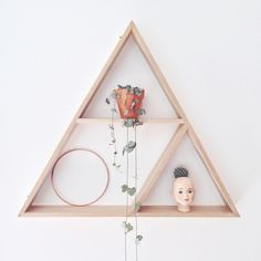 Image result for triangle shelf