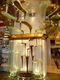 The World's Largest Chocolate Fountain. Bellagio Las Vegas