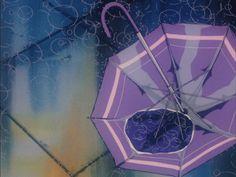 love beauty girl cute happy sad fashion anime japan japanese kawaii creepy alone indie Grunge cutie lovely rain umbrella pink purple smile strange color pastel blackandwhite pale maisonikkoku pastel-biatchs Aesthetic Gif, Purple Aesthetic, Anime Gifs, Anime Art, Rain Gif, Rainy Night, Rainy Days, Old Anime, Anime Scenery