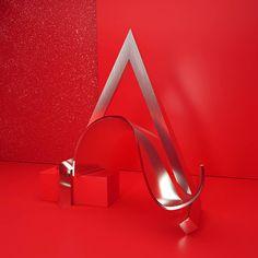Metallic-Like 3D Artwork Alphabet – Fubiz Media