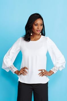 Lace Sleeve Blouse: Unique & Bold Women's Clothing from #metrostyle