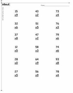 Multiplication Worksheets - Multiply Numbers by 1 to 3 | Math ...