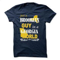 Brooklyn Guy in a GEORGIA World - #tshirt typography #vintage sweatshirt. I WANT THIS => https://www.sunfrog.com/States/Brooklyn-Guy-in-a-GEORGIA-Worl-NavyBlue.html?68278