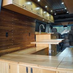 Van Conversions by Brawley Made and Vantage Point Custom vans, designing and building out custom cabinetry for these one-of-a-kind Sprinter van conversions. Sprinter Van Conversion, Custom Vans, Custom Cabinetry, Woodworking, Campers, Building, Design, Home Decor, Custom Closets