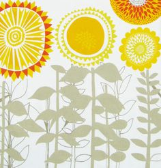 scandinavian fabric DIY pillow cushions retro floral 50s 60s retro Heals era | eBay