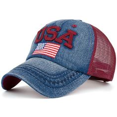 bf8065d665b62e Competitive Red Hats online, Gamiss offers you American Element Embroidery  Mesh Spliced Baseball Hat at