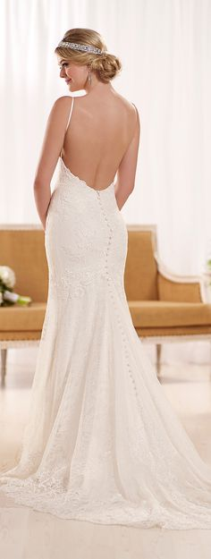 Wedding dress by Essense of Australia Spring 2016 Bridal Collection | Off white, clean, lace...love this dress!! #weddingdress