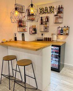 Home Bar Rooms, Home Bar Areas, Diy Home Bar, Home Bar Decor, Mini Bar At Home, In Home Bar Ideas, Home Bars, Modern Home Bar Designs, Small Bars For Home