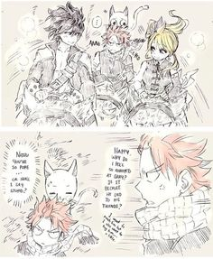 Image about nalu in 😊Fairy Tail👆 by Cinda on We Heart It Fairy Tail Sad, Fairy Tale Anime, Fairy Tail Family, Fairy Tail Couples, Fairy Tail Ships, Fairy Tales, Gray And Lucy, Natsu And Gray, Natsu Y Lucy