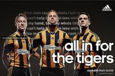 Hull City 2013/14 adidas Home Kit