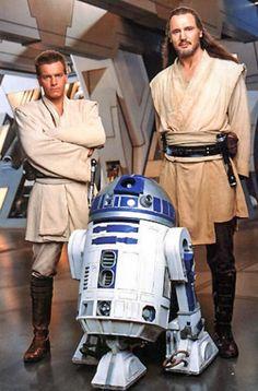 Qui Gon Jinn and Obi Wan and R2-D2