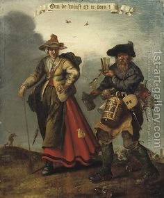By (after) Adriaen Pietersz. Van De Venne, this is probably 17th? but it is fun