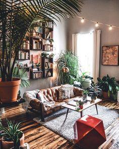 Boho Living Room Decor, Cozy Living Rooms, Living Room Designs, Bohemian Living, Living Room Styles, Boho Room, Bohemian Decoration, Decoration Design, Modern Interior Design