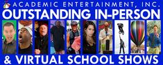 We are the premiere provider of outstanding in-person and virtual school assemblies nationwide, promoting education through quality entertainment. We've done thousands of assemblies and are your one-stop shop for bringing the best programs to your school, in-person and online. Visit our website and contact us for pricing/dates. #SmartFun #AcademicEntertainment #ShowsForSchools #ShowsInSchools #SchoolAssemblies #SchoolShows #AssemblyPrograms #AssemblyShows #VirtualSchoolAssemblies School S, Dates, Entertainment, Good Things, Education, Website, Shop, Date, Onderwijs