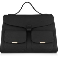 Victoria Beckham Harper textured-leather tote via Polyvore