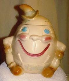 Brush Vintage Humpty Dumpty Collector Cookie Jar.  I remember us having this cookie jar in our home as I was growing up.