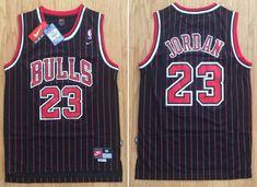 b9e462544e6 Men Chicago Bulls 23 Michael Jordan Jersey Black Red Fanatics