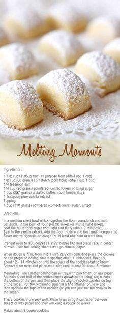 Home / Dessert Recipesmelting moments bitesMay moments bites - to make with the kids:melting moments bites - to make with the kids: Cookie Desserts, Just Desserts, Cookie Recipes, Delicious Desserts, Dessert Recipes, Yummy Food, Cookie Ideas, Melting Moments Cookies, Melting Moments Biscuits