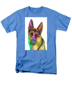 Men's T-Shirt (Regular Fit) - Bogart The Shepherd. Pet Series