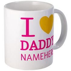 Personalized Name I Heart Daddy Mug