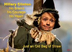Old Hag Scarecunt- I'm just an ordinary nothing, my head all full of stuffing, if I only had a brain..